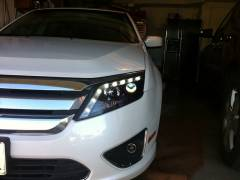 2010-2012 Ford Fusion Audi Style LED Projector Headlights ...