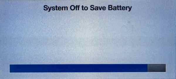 System Off To Save Battery