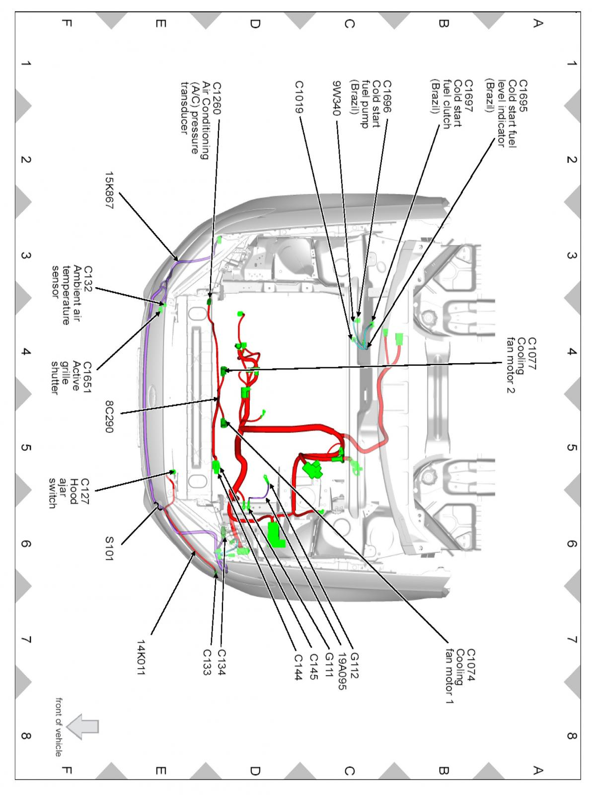 2013 ford fusion hood latch wiring diagram  ford  auto