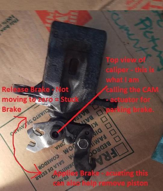 Caliper Top View Cam Motion